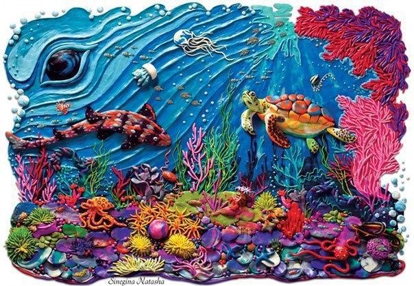 Восхитительные работы из пластилина Синегиной Натальи!