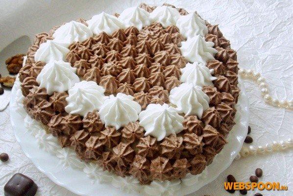 Торт простой с кремом в домашних условиях фото