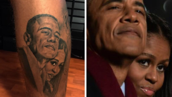 Football Player Inks His Love For The Obamas With An Epic Tattoo