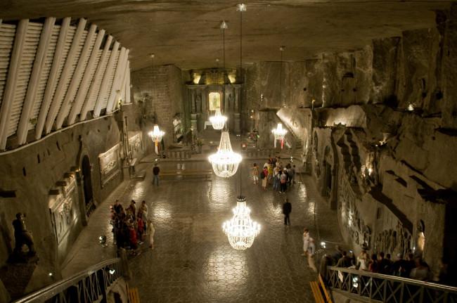 Соляная шахта в Величке привлекает туристов