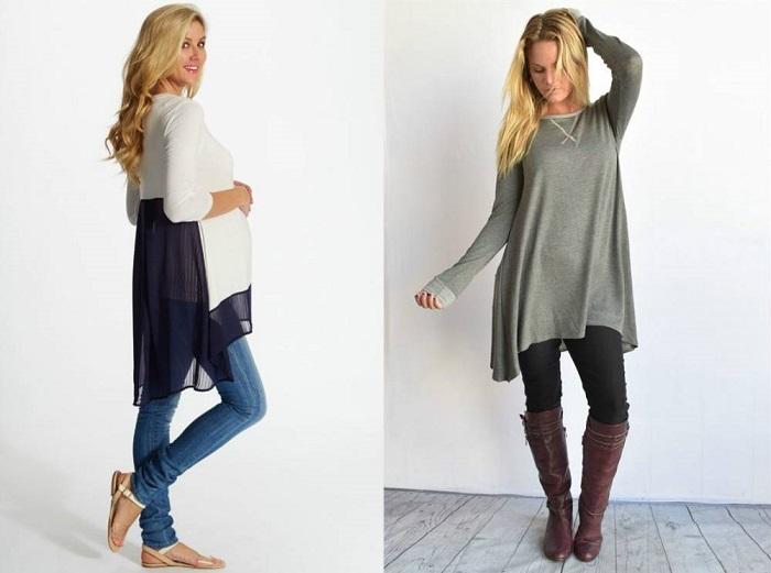Джинсы + туника - самый простой вариант сочетания dress-over-pants