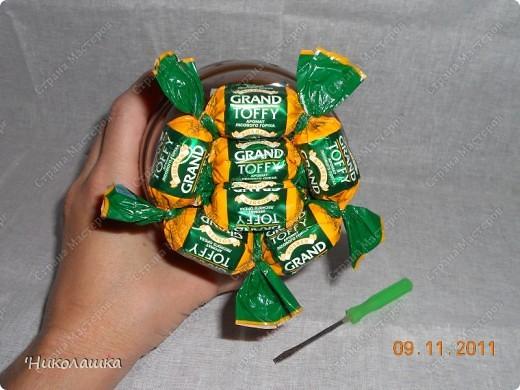 Увидела однажды в интернете ананас из конфет и заболела! Стала интересоваться как это делается, и что это за техника и что еще можно сотворить из конфет. Оказалось, что это свит-дизайн, который покорил и захлестнул меня всецело! . Фото 9