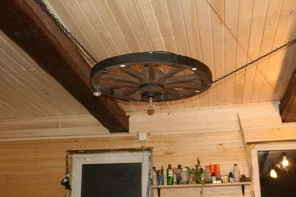 Светильники на дачу из дерева