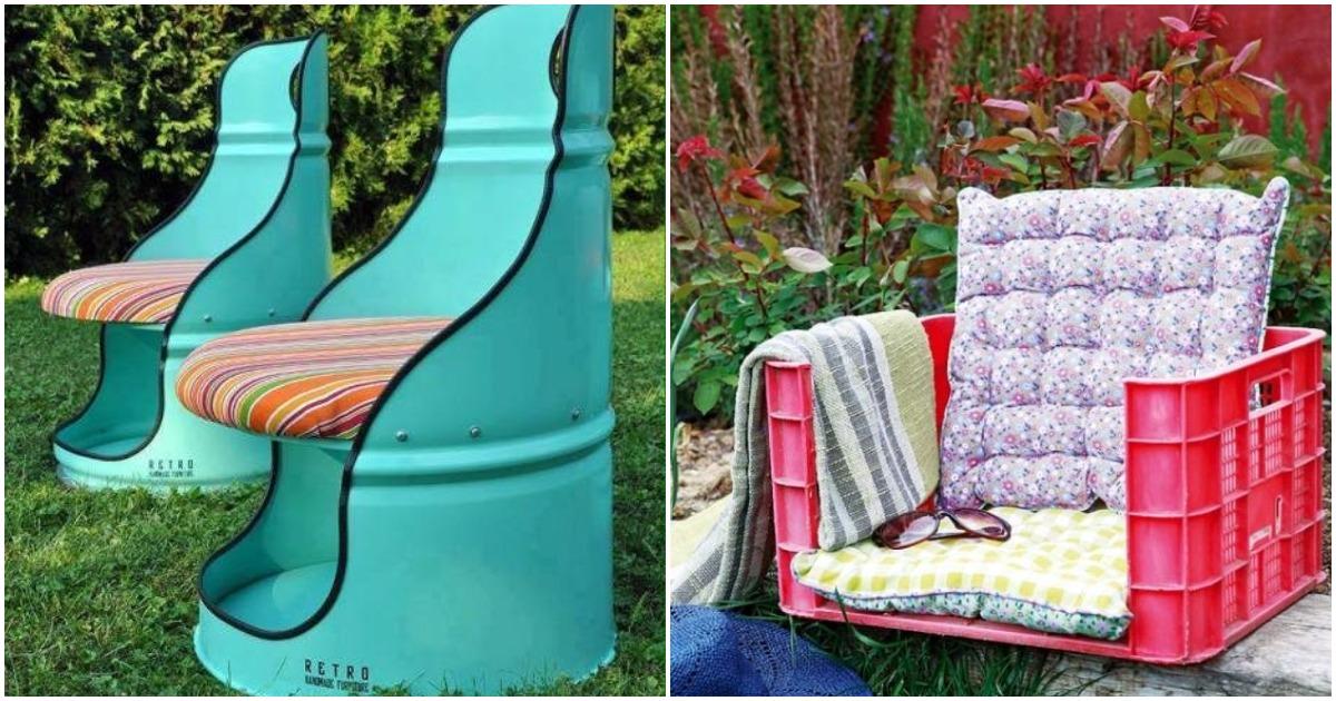 18 примеров уличной мебели для дома и дачи, сделанная из подручных средств