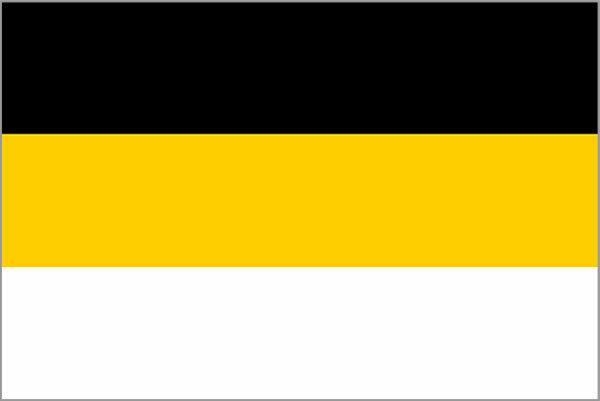 Чёрно-жёлто-белый флаг России — как он появился и что означал