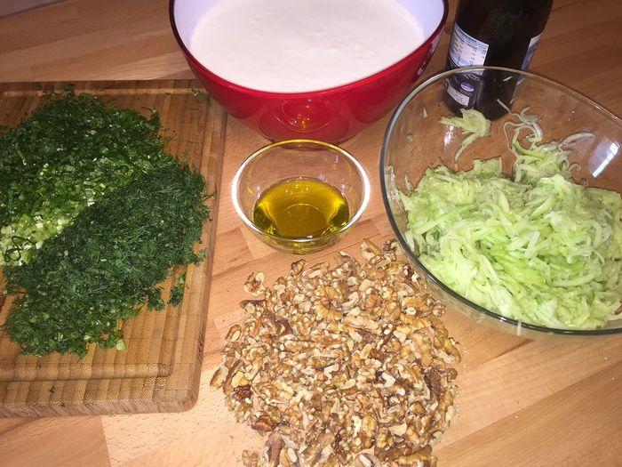 """Болгарский холодный суп """"Таратор"""", на домашнем кефире. Таратор, Кефир, Суп, Черемша, Грецкие орехи, Рецепт, Длиннопост, Кулинария"""