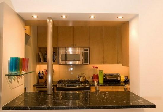 Как сделать точечный светильник на кухне