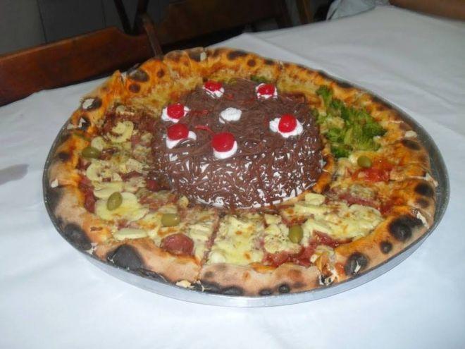 пицца и торт