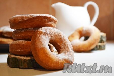 Пончики на молоке и дрожжах