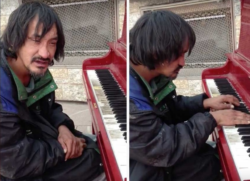 История бездомного пианиста …
