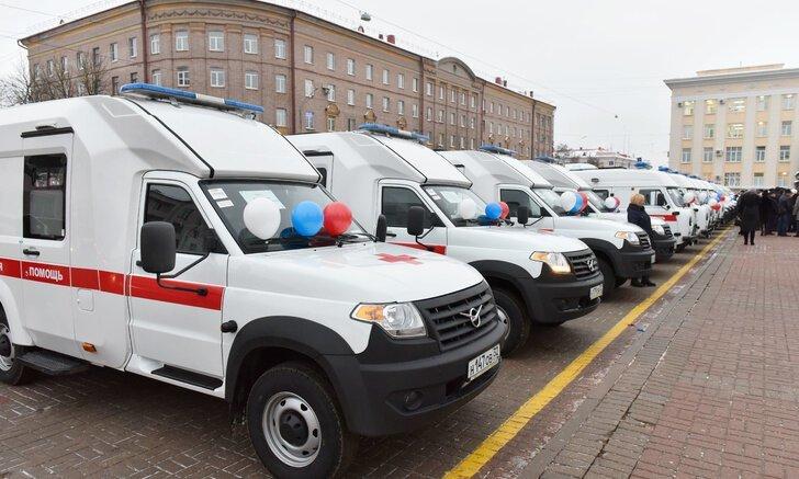 21 автомобиль скорой помощи передан Брянской области Хорошие, добрые, новости, россия, фоторепортаж