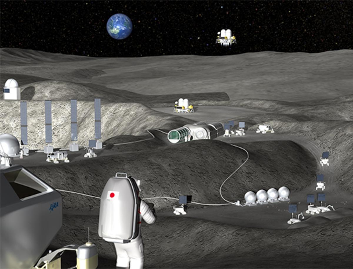 Лунную базу полностью построят роботы