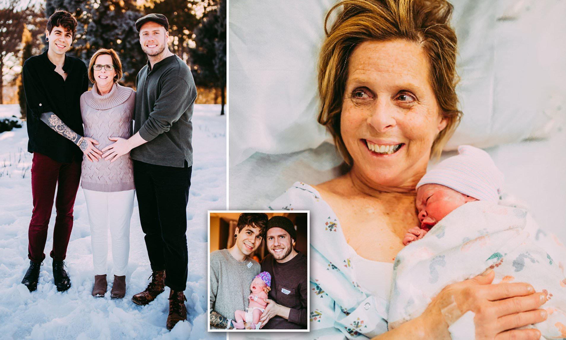 61-летняя американка родила ребенка для сына и его мужа