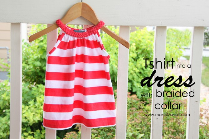 Как сшить платье из футболки для девочки