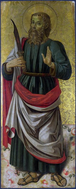 Bartolomeo Caporali - Saint Bartholomew. Национальная галерея, Часть 1