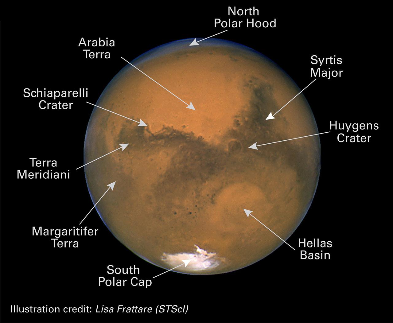 Hubble сфотографировал Марс с рекордно близкого расстояния