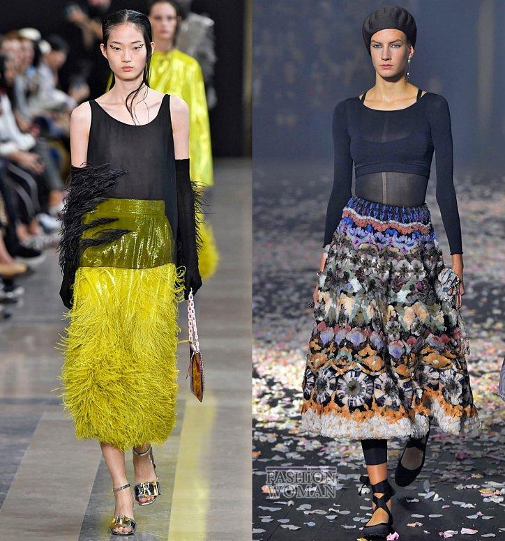 Модные юбки весна-лето 2019 фото №55
