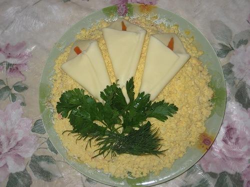 """Украшение салата """"Мимоза"""" -17"""