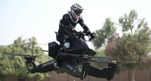 Полиция в ОАЭ пересядет на летающие мотоциклы
