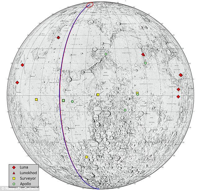 Траектория полета зондов проходила через полюса Луны