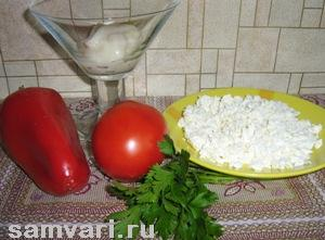 салат с болгарским перцем и творогом
