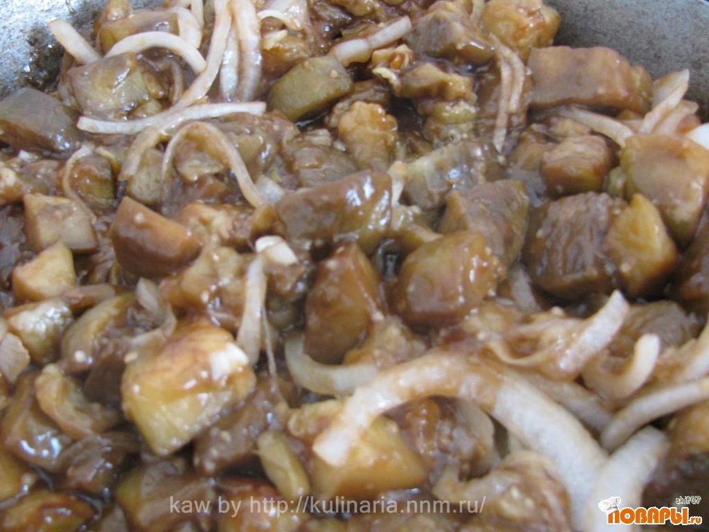Баклажаны в соевом соусе с имбирем и крахмалом