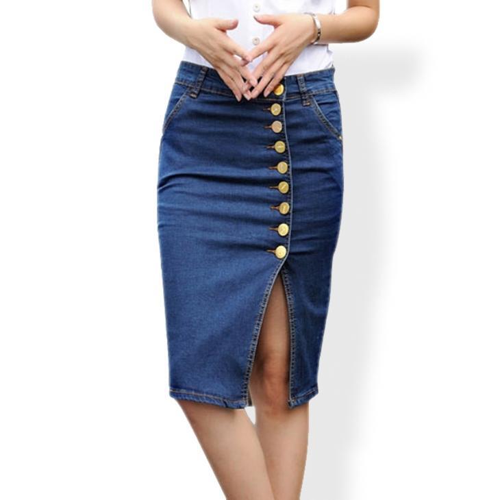 Юбка-карандаш из старых джинсов своими руками