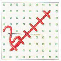 Вышивка крестиком по диагонали. Простая диагональ (фото 14)