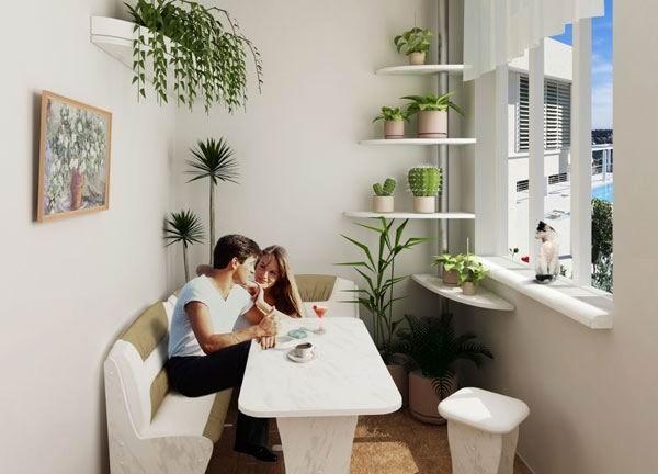 Как преобразить интерьер балкона 8