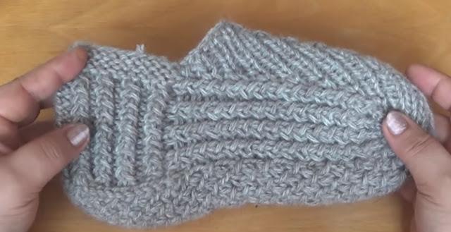 вязание следков плетенка видео