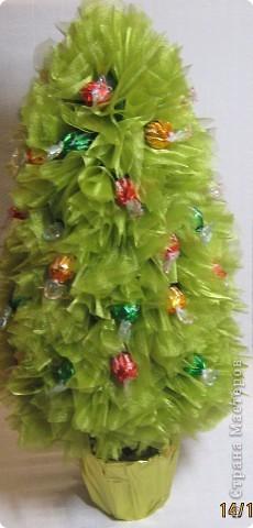 Мастер-класс, Свит-дизайн: МК елочки из конфет Новый год. Фото 22