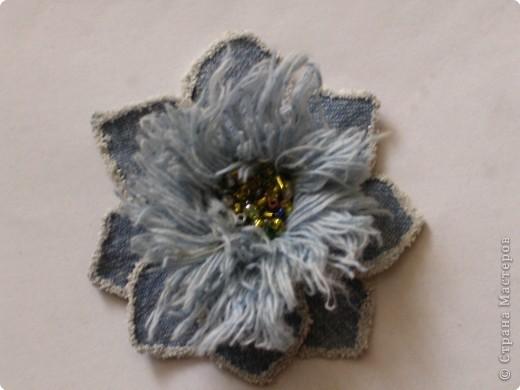 Мастер-класс Вырезание: Цветок из джинса №2+МК Ткань. Фото 20