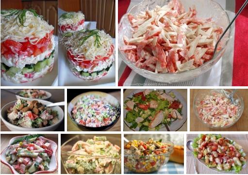 Десять салатов с помидорами:…