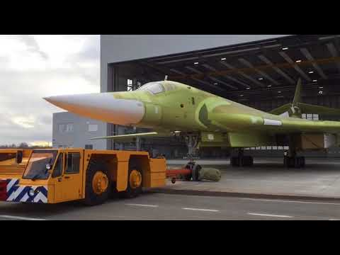 Первые кадры: выкатка нового Ту-160М2 попала на видео