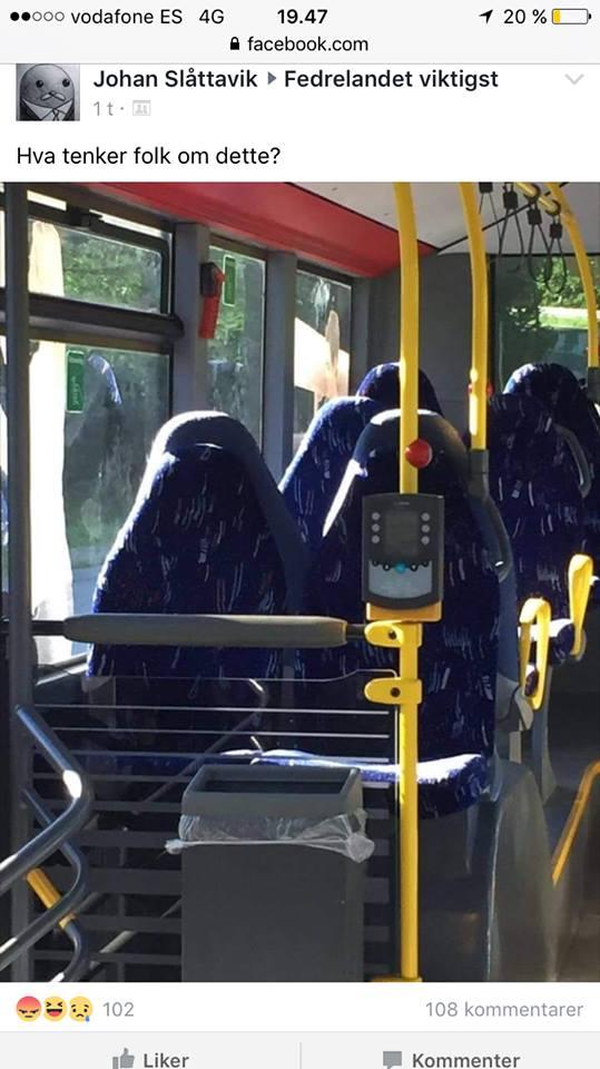 Националисты устроили истерику, перепутав автобусные сиденья с мусульманками