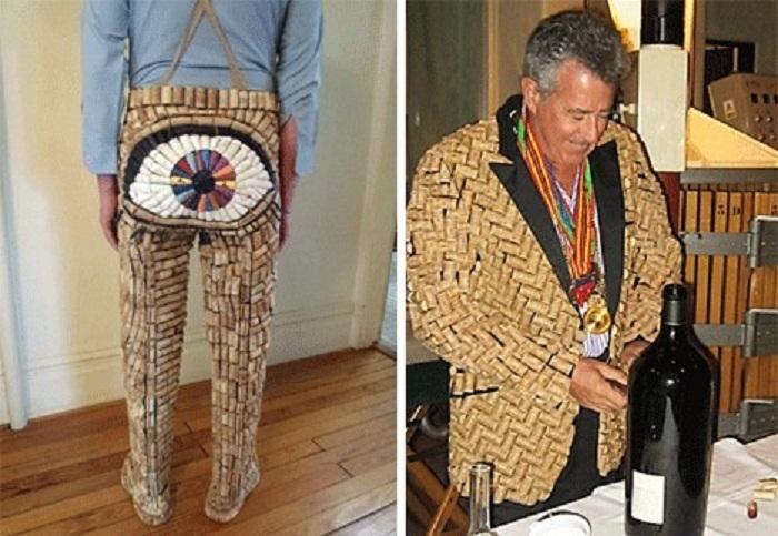 Невероятная коллекция одежды из винных пробок.