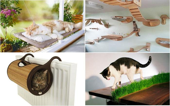 25 классных дизайнерских идей  мебели, радующей кота