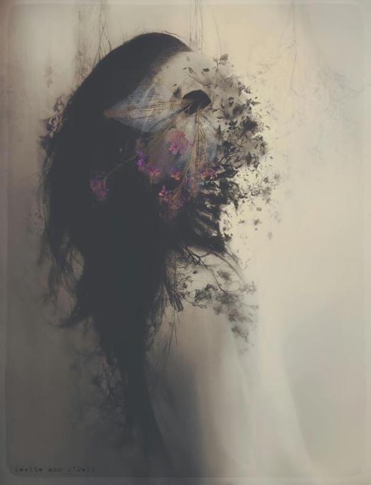Цветочная маска. Автор работ: фото-иллюстратор Лесли Энн О'Делл (Leslie Ann O'Dell).