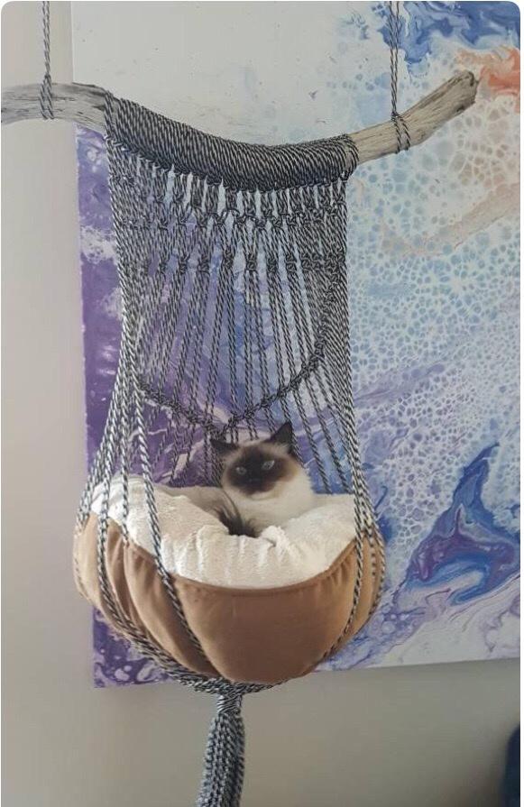 Макраме гамак для кота
