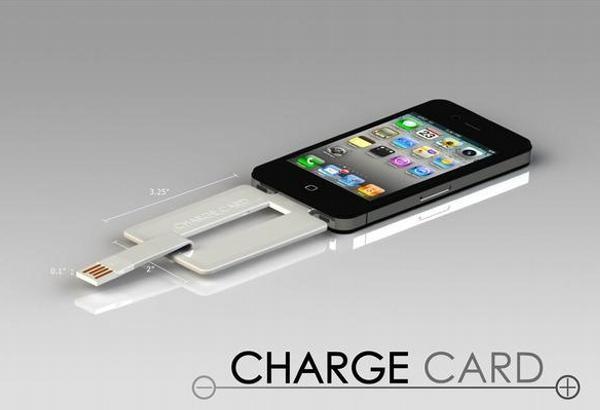 Ваш телефон зарядит... кредитная карта ChargeCard