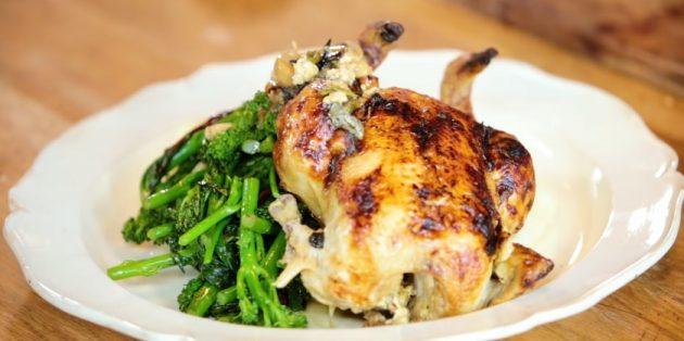 Рецепты курицы в духовке: Целая курица в молоке от Джейми Оливера