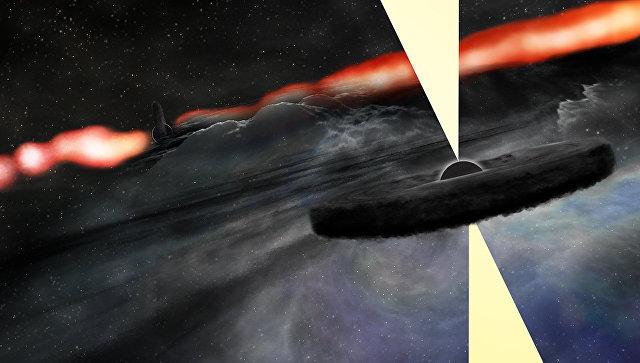 Ученые случайно открыли вторую гигантскую черную дыру в невидимой галактике