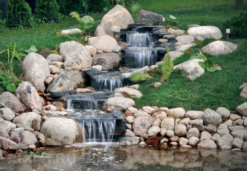 Водопад и фонтан на участке
