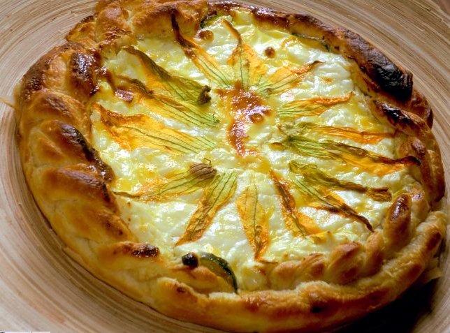 Тыквенный пирог с фета сыром.