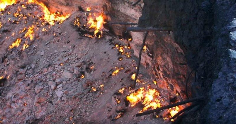 Адово горнило: закат солнца у газового кратера в Туркменистане Дарваза, аномалия, видео, врата ада, газ, кратер, огонь, туркменистан