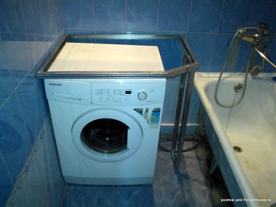 Раковина над стиральной машинкой своими руками 35
