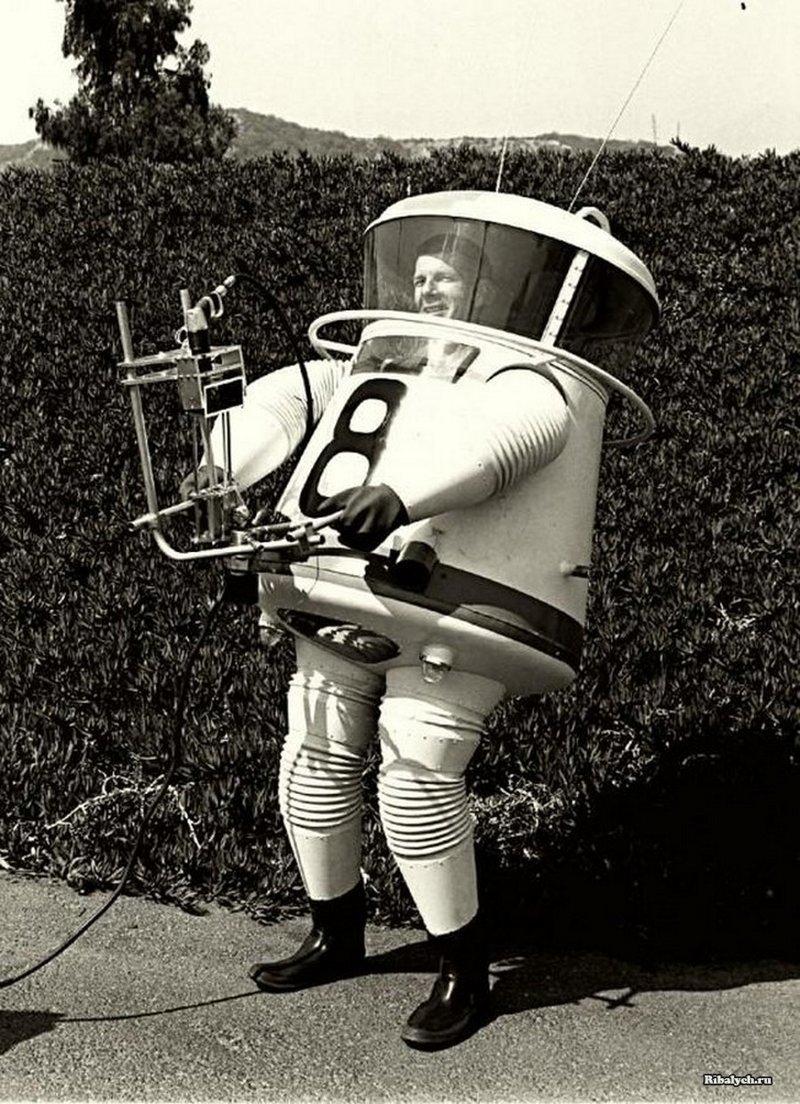 Экспериментальный скафандр для исследования Луны. 1960 история, люди, мир, фото