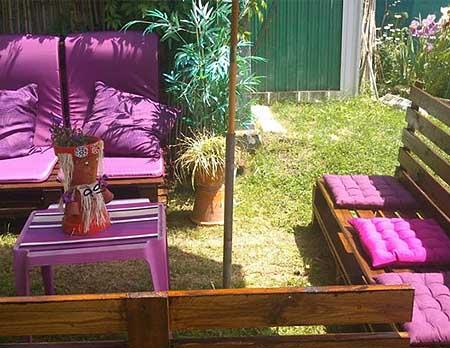 Мебель для дачи из деревянных поддонов