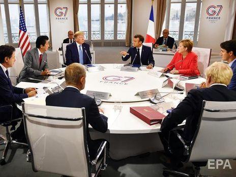 Трамп не доволен итогами саммита G7