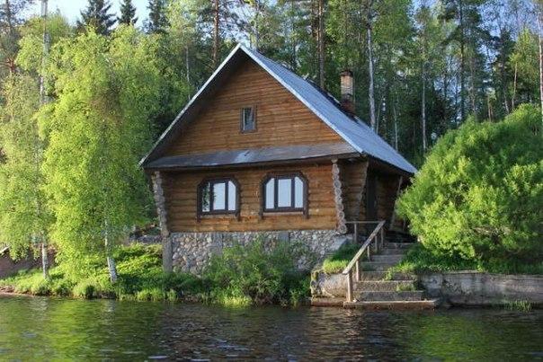 Банька на озере.